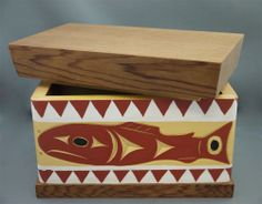 "The MOA Shop: ""Salmon Bentwood Box"" by Coast Salish artist Joe Campbell."