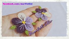 This Pin was discovered by Fik Beaded Flowers, Diy Flowers, Crochet Flowers, Flower Ideas, Needle Tatting, Needle Lace, Knitting Patterns, Crochet Patterns, How To Make Necklaces