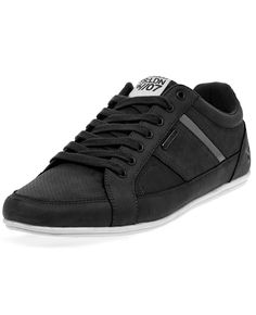 Twisted Soul Mens Black Contrast Panelling Lace Up Low Trainers Athletic 9 -- Awesome products selected by Anna Churchill