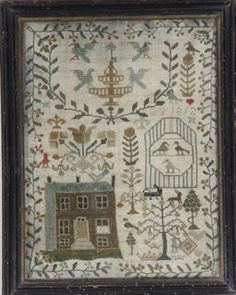 A needlework sampler, initialled and dated BT 1812
