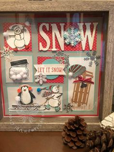 Let it Snow! Framed Scrapbook Paper, Christmas Scrapbook Pages, Disney Scrapbook, Scrapbooking, Paper Christmas Decorations, Christmas Paper, Christmas Projects, Christmas Ideas, Holiday Decor