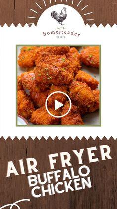 Kids Meals, Easy Meals, Homemade Buffalo Sauce, Air Frier Recipes, Easy Homemade Recipes, Food Hacks, Food To Make, Chicken Recipes, Dinner Recipes
