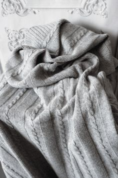 Made in England Wool Throw - Silver Grey