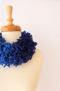 Blues Long Scarf, Women fashion, Infinity Scarf