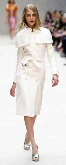 Cara Delevinge Burberry London Fashion Week