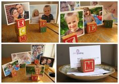 wood block picture holders