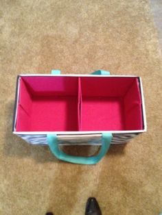 DIY - Dollar General Square Bins (2) fits perfectly into the Thirty One - Large Utility Tote. www.mythirtyone.com/353029