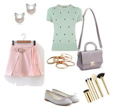 """Untitled #3147"" by ayse-sedetmen ❤ liked on Polyvore featuring Oasis, Repetto, WithChic, Kendra Scott and tarte"