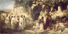 Jesus Christ and The Sinner by Henrich Semiradsky