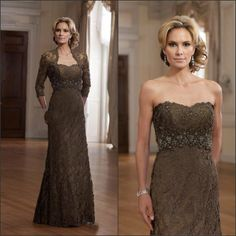 MN12 New Style 2013 Luxury mother of the Bride Dresses with jacket all Lace OM2915 US $149.00
