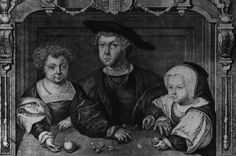 The children of Henry VII, showing Prince Henry (1491–1547), Arthur Prince of Wales (1486–1502) and Princess Margaret (1489–1541), circa 1498. The portrait is in an ornate frame with a coat of arms. (Photo by Hulton Archive/Getty Images)