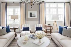 East Coast House with Blue and White Coastal Interiors