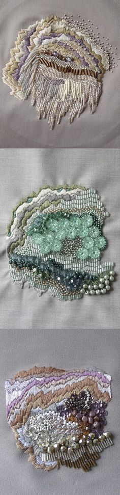 Anna Jane Searle. Embroidery Art. - HOW ABSOLUTELY BEAUTIFUL !! - SO MUCH FABULOUS DETAIL!! ✳✳✳: