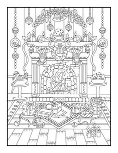 Printable Christmas coloring pages by Jade Summer time Christmas Coloring Sheets, Printable Christmas Coloring Pages, Printable Adult Coloring Pages, New Year Coloring Pages, Coloring Pages For Kids, Coloring Books, Dover Coloring Pages, Relaxing Colors, Theme Noel