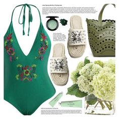 """""""Day by the Sea"""" by pastelneon ❤ liked on Polyvore featuring MAC Cosmetics and Byredo"""