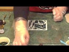 Photo lithography on clay - YouTube