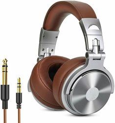 Over Ear Headphone, Wired Premium Stereo Sound Headsets with Driver, Foldable Comfortable Headphones with Protein Earmuffs and Shareport for Recording Monitoring Podcast PC TV- with Mic (Silver) Cheap Headphones, Studio Headphones, Headphones With Microphone, Best Headphones, Over Ear Headphones, Bluetooth, Wireless Earbuds, Monitor, People