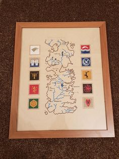 [NO SPOILERS] I cross stitched this map of Westeros for my boyfriend for Christmas!