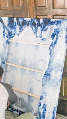 DIY Large Wall Art for Cheap- Indigo Abstract Canvas Art Wall Art oversized wall art Cheap Canvas Art, Cheap Wall Art, Big Wall Art, Diy Canvas Art, Metal Wall Art, Large Wall Canvas, Abstract Canvas Wall Art, Canvas Paintings, Large Wall Paintings