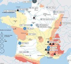 centrales nucléaires les zones à risque