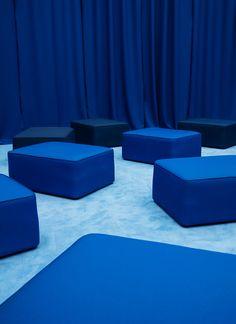 Summer blues – Rope sofa puff blue, Normann Copenhagen, interiors, furnitue design, scandinavian design - Crioll Designshop