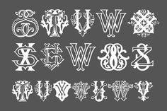 Intellecta Monograms - A mix and mash of various different decorative letter designs. Monogram Maker, Monogram Design, Monogram Fonts, Monogram Letters, Tattoo Lettering Fonts, Typography Art, Lettering Design, Logo Design, Vintage Monogram
