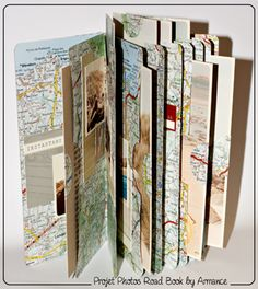 Travel journal...I like the idea of using maps as pages