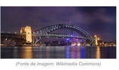 A Sydney Harbour Bridge é uma verdadeira rodovia suspensa, contanto com oito vias para carros, duas para bondes, uma ciclovia e uma passarela para pedestres. A Sydney Harbour Bridge é impressionante, com uma largura de 49 metros; o que lhe garantiu o título de ponte mais larga do mundo. Fonte: Revista Viagem