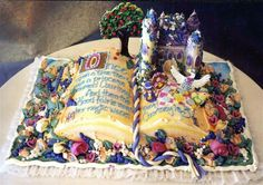 Once upon a time, pop up book cake, fantasy cake :)