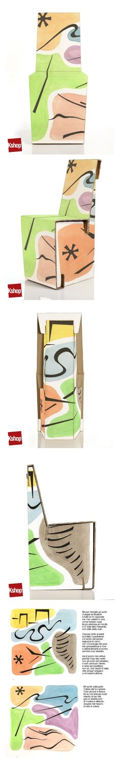 Diego Menti #poem #chairplus #contest #kshop #ecodesign #cardboard #style