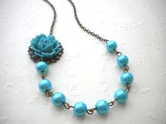 Resin rose and beads