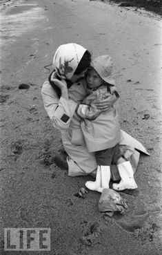 Jackie Kennedy with John - John