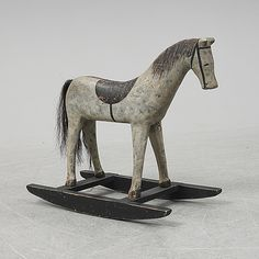 A wooden rocking horse from the early century. Spring Sale, Winter Sale, Modern Art, Contemporary Art, All Themes, Bukowski, Gold Coins, My Childhood, Folk Art