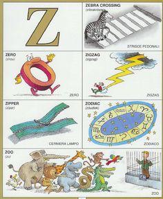 #1351 Parole Inglesi Per Piccoli e Grandi - #Illustrated #dictionary - Z