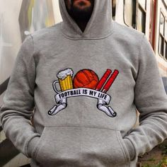 Streetwear, My Life, Graphic Sweatshirt, Football, Sweatshirts, Sweaters, Design, Fashion, Group