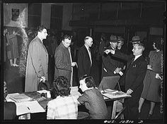 Some things don't change all that much...these citizens from Olney, Maryland, patiently waited at the polls back in 1942 (and that wasn't even a presidential election year).