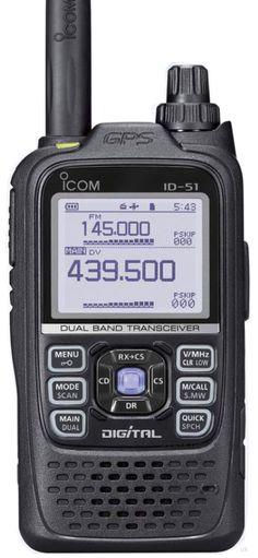 Icom ID-51, my next handheld. Dual Band D-Star Amateur Ham Radio. 2 new from $610.00