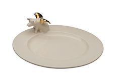 Belinda Berger gallery - contemporary ceramics & art from England | Shop Product: Dish with seated Angel Pig, big