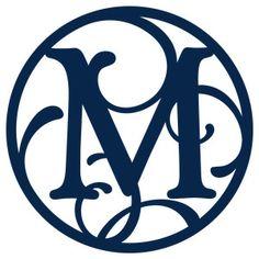 Silhouette Design Store - View Design #172027: circle flourish monogram m