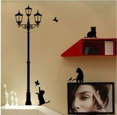 Cat-Wall-Stickers-Home-Stairs-Sticker-Decor-Decorative-Removable-Wa-23x40CM-Lam