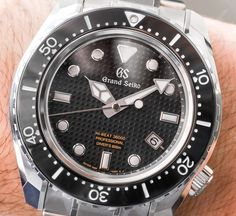 Hands-On with the Grand Seiko Hi-Beat 36000 Professional 600m Diver's SBGH255. With a dial made from pure iron to act as an anti-magnetic shield for the movement beneath and much more.