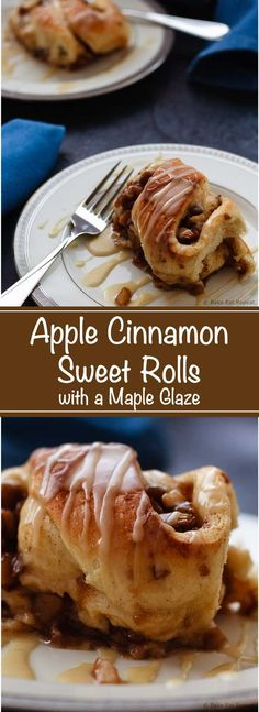 Apple Cinnamon Sweet Rolls - Easy to make, amazing apple cinnamon sweet rolls drizzled with a sweet maple glaze. These need to be part of your weekend brunch plans!