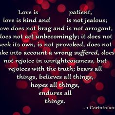 True, pure, predictable, unconditional.....LOVE