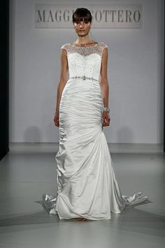 Maggie Sottero Spring 2013 Runway I love the top it gives it a elegant touch