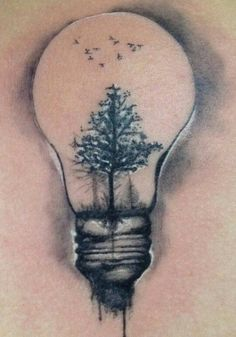 geometric lightbulb tattoo - Google Search