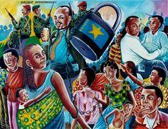 Shula (Kinshasa/Congo) - Virtual Museum of Political Art Afrikaanse Kunst, Political Art, Virtual Museum, Black Power, Congo, Politics, Artwork, Collection, Dibujo