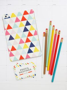 Colorful iPad Case Modern Triangle by PencilShavingsStudio on Etsy, $65.00