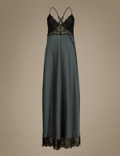 Low Back Satin Long Nightdress | MARKS AND SPENCER saved by #ShoppingIS