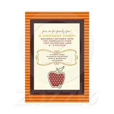 Fall Harvest Party Invitations - Hosting a Friendsgiving party this year?  Be sure to send out cute invitations to start off right ... choose a theme to use from beginning to end!  #AGPinGiving