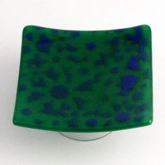 Cobalt Blue & Jade Green Flower Large Trinket by fostersbeauties